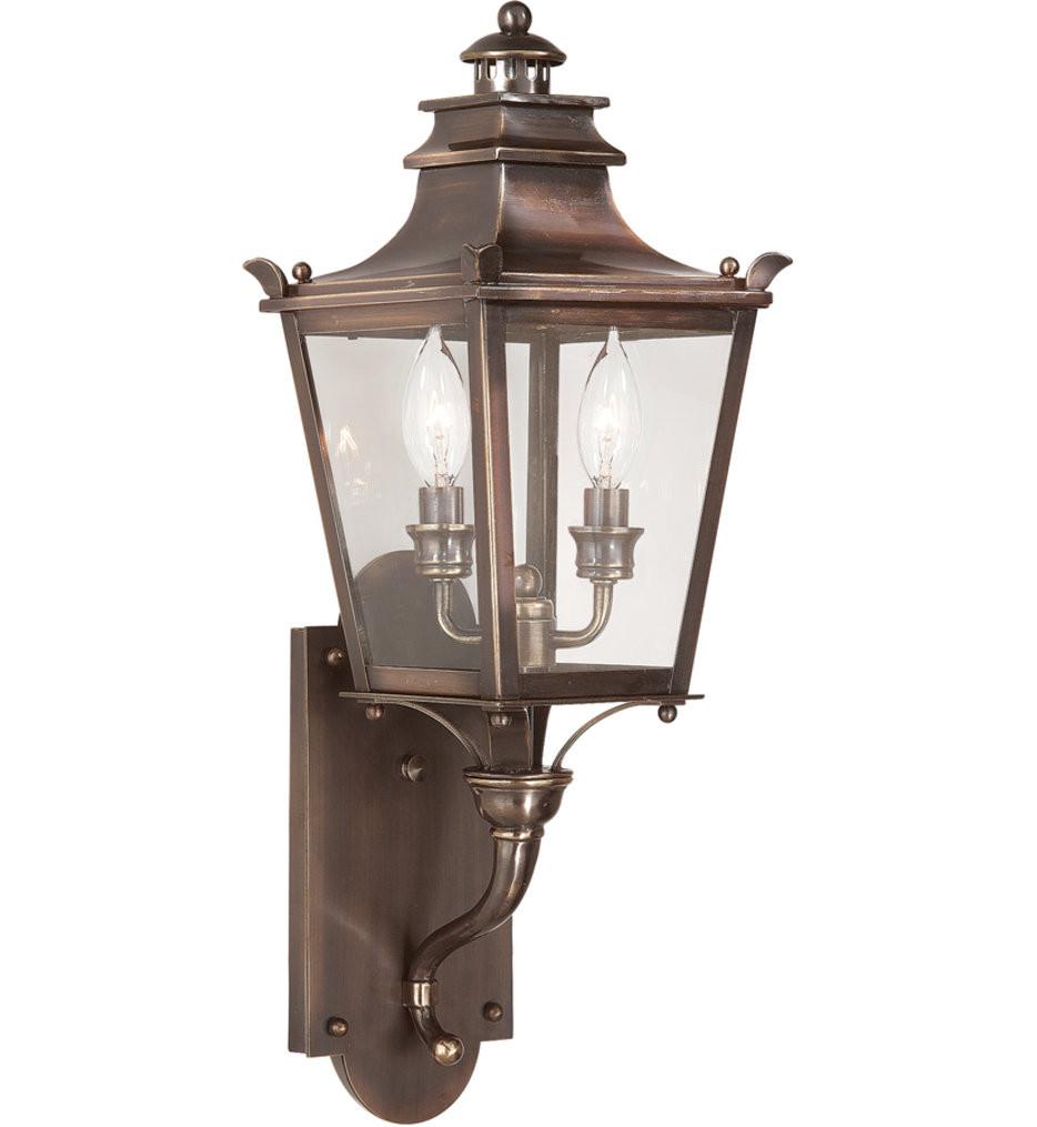 Troy Lighting - B9491EB - Dorchester English Bronze 22.5 Inch 2 Light Outdoor Wall Lantern