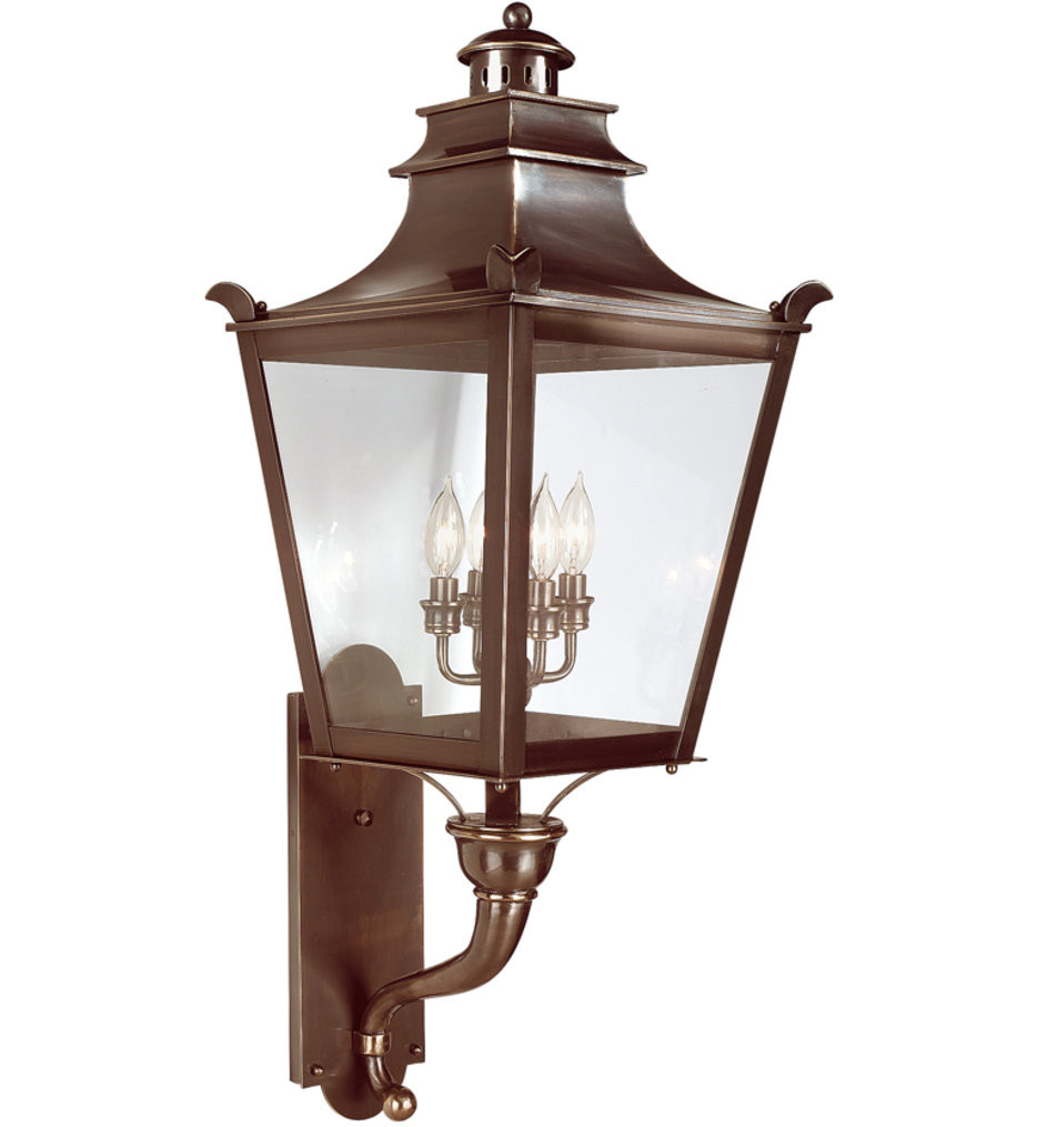 Troy Lighting - B9495EB - Dorchester English Bronze 37 Inch 4 Light Outdoor Wall Lantern