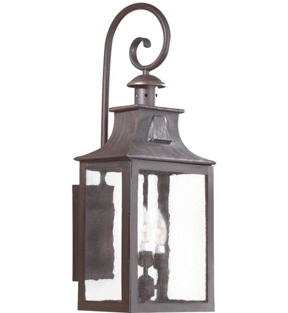 Troy Lighting - BCD9005OBZ - Newton Old Bronze 26.75 Inch 3 Light Outdoor Wall Lantern