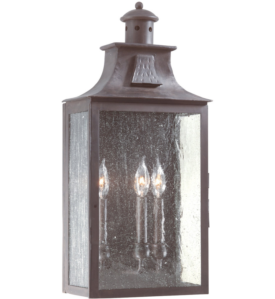 Troy Lighting - BCD9009OBZ - Newton Old Bronze 23.75 Inch 3 Light Outdoor Wall Lantern