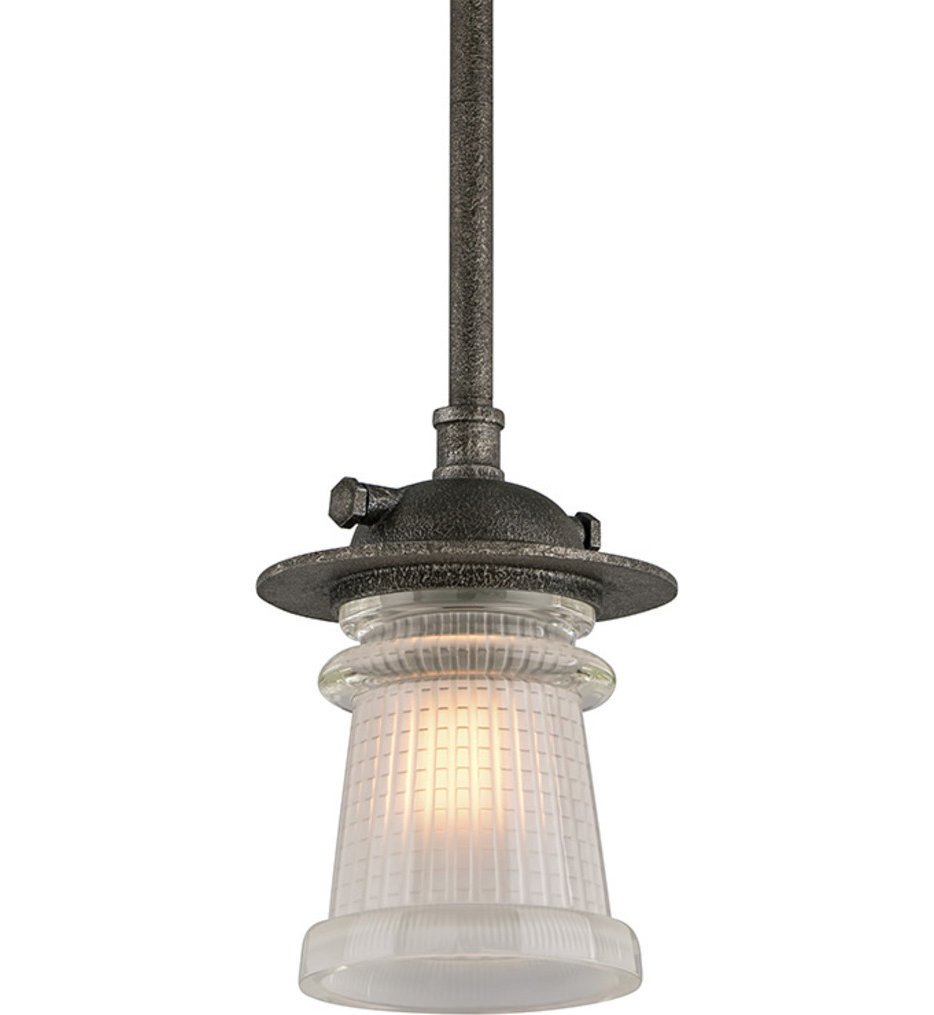 Troy Lighting - F4357 - Pearl Street Charred Zinc 11 Inch 1 Light Outdoor Hanging Lantern