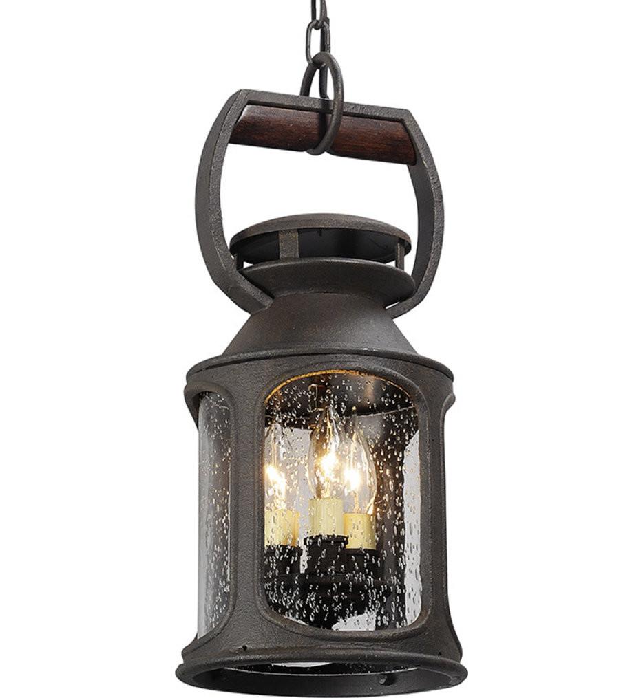 Troy Lighting - F4517 - Old Trail Centennial Rust 3 Light Outdoor Hanging Lantern