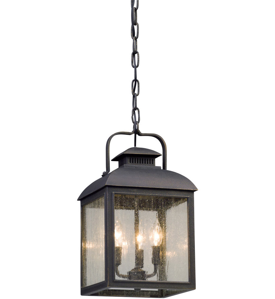 Troy Lighting - F5087 - Chamberlain Vintage Bronze 3 Light Outdoor Hanging Lantern