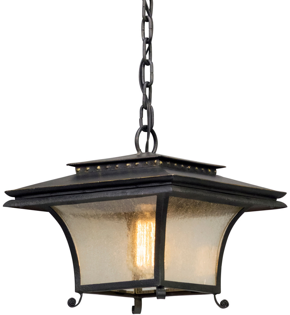 Troy Lighting - F5147 - Grammercy Forged Iron 1 Light Outdoor Hanging Lantern