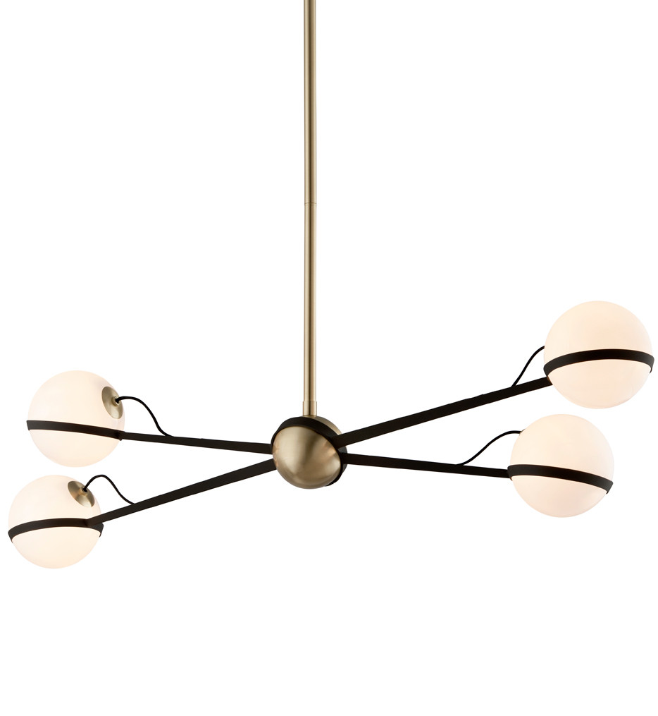 Troy Lighting - F5307 - Ace Textured Bronze with Brushed Brass 4 Light Island Light
