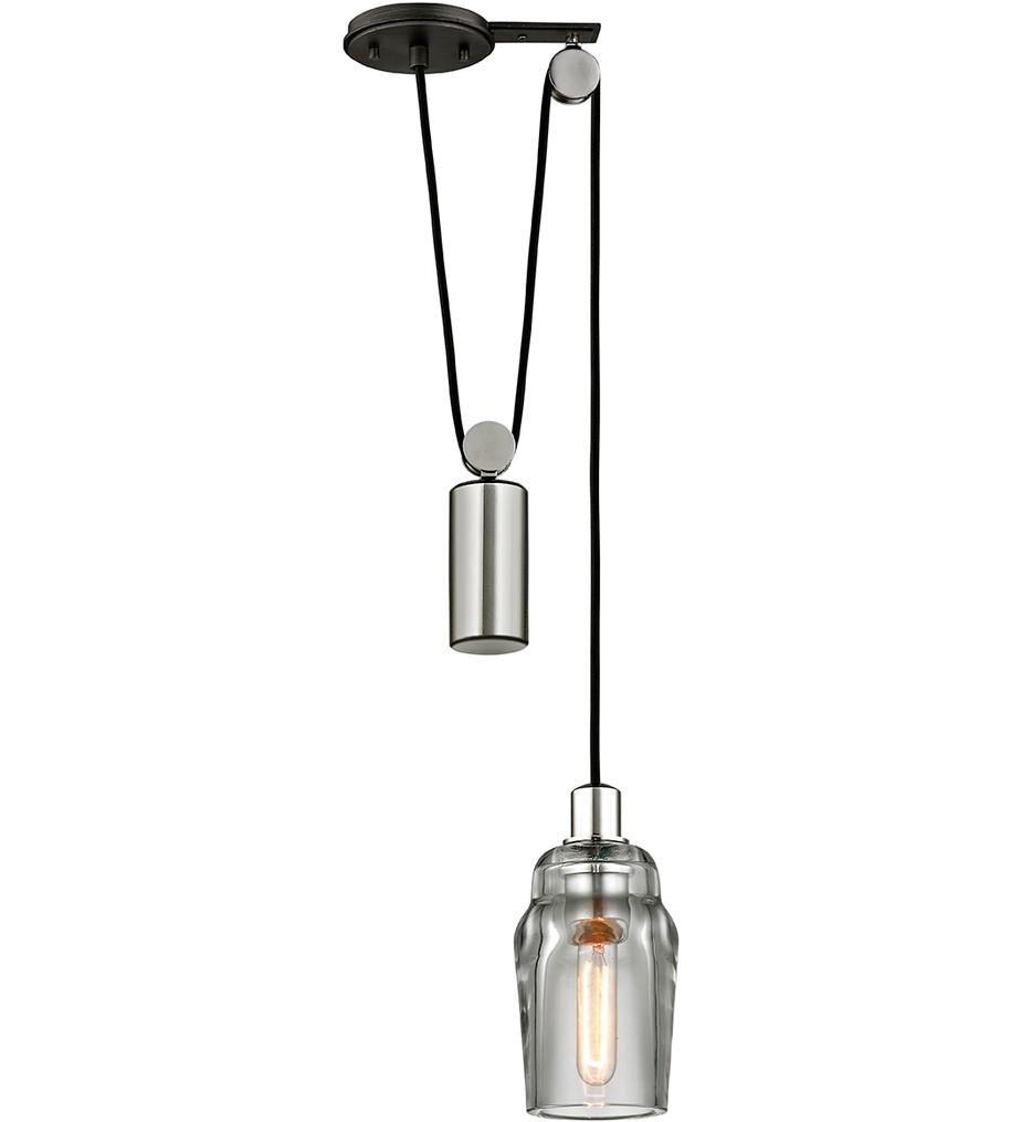 Troy Lighting - F5992 - Citizen Graphite & Polished Nickel 1 Light Pulley Mini-Pendant