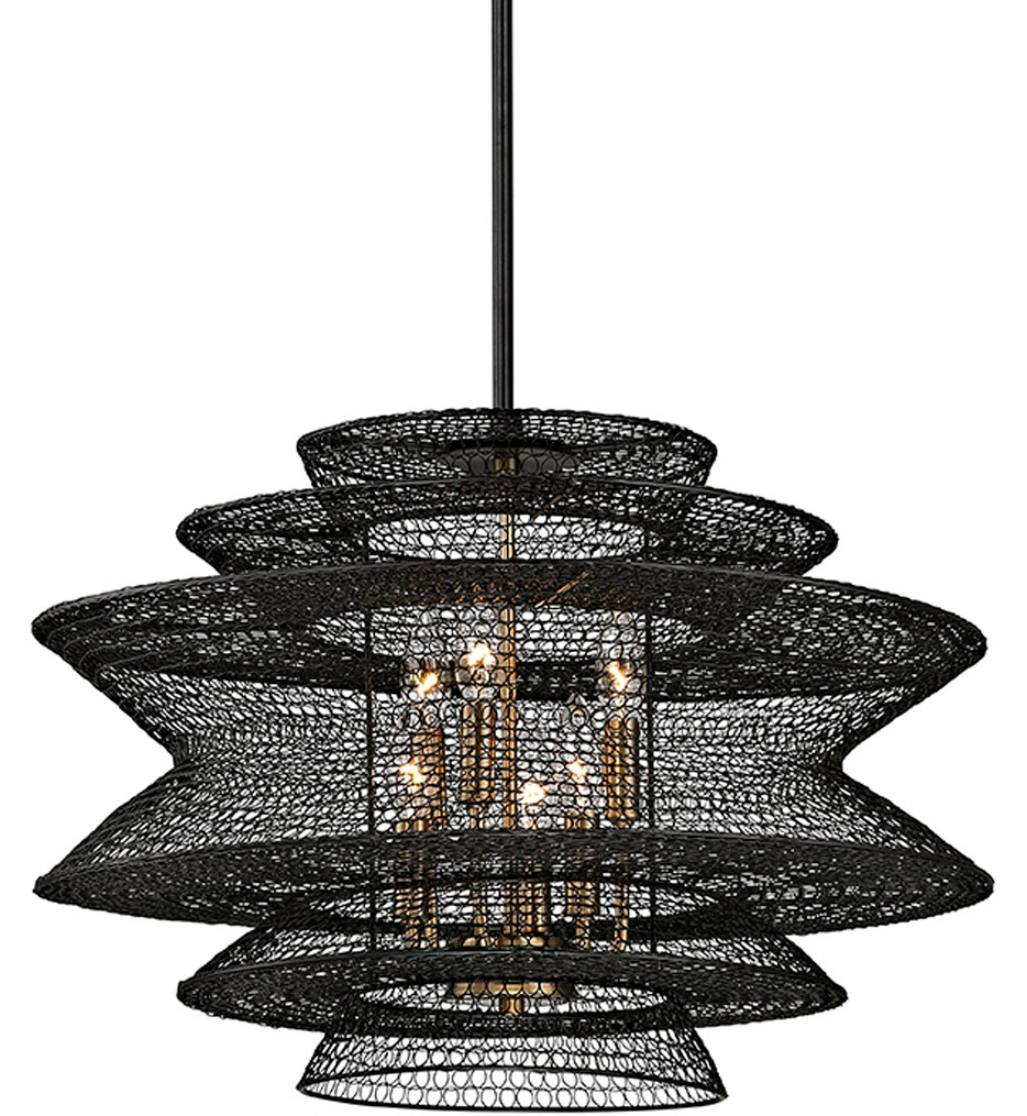 Troy Lighting - F6016 - Kokoro Bronze 6 Light Pendant