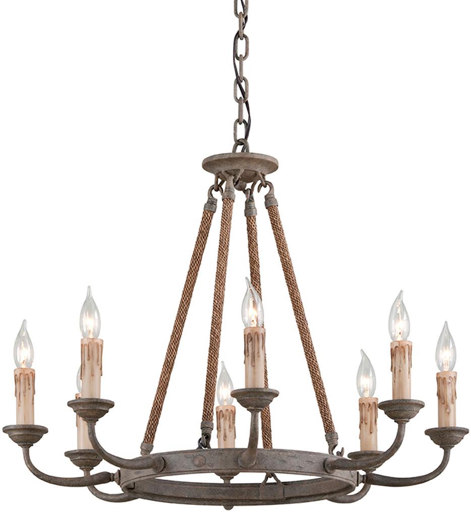 Troy Lighting - F6116 - Cyrano Earthen Bronze 8 Light Chandelier