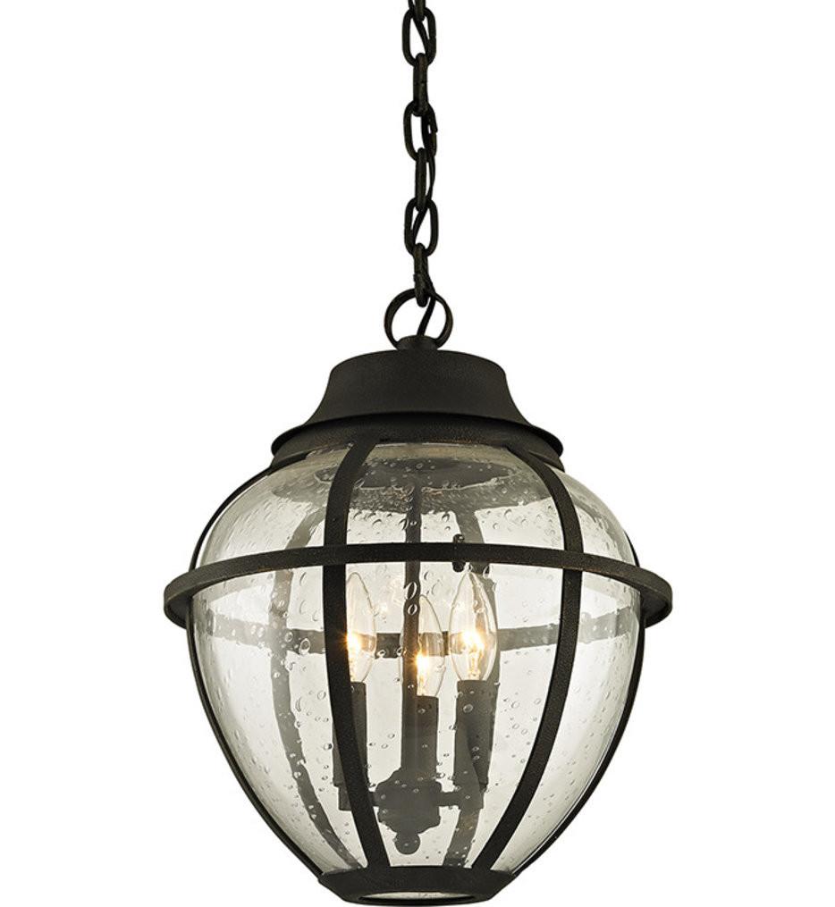 Troy Lighting - F6457 - Bunker Hill Vintage Bronze 3 Light Outdoor Hanging Lantern