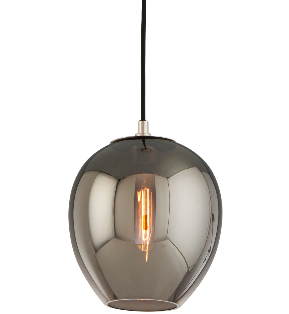 Troy Lighting - Odyssey Carbide Black & Polished Nickel 1 Light Mini-Pendant