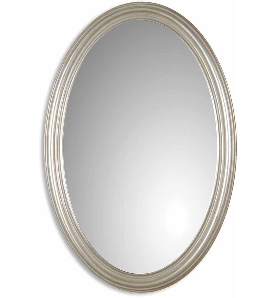 Uttermost - 08601 P - Franklin Oval Silver Mirror