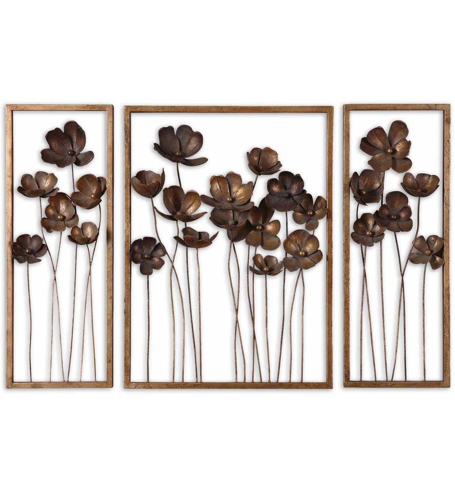 Uttermost - 12785 - Metal Tulips Wall Art (Set of 3)