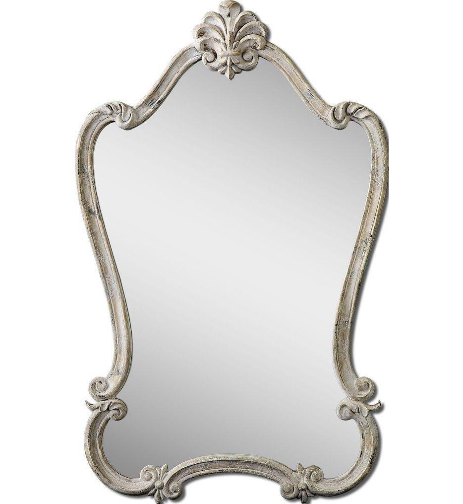 Uttermost - 12833 - Walton Hall Antique White Mirror