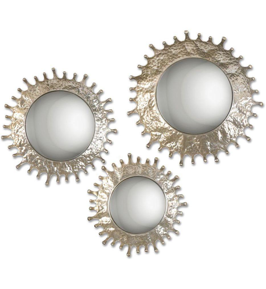 Uttermost - 12903 - Rain Splash Round Mirrors (Set of 3)