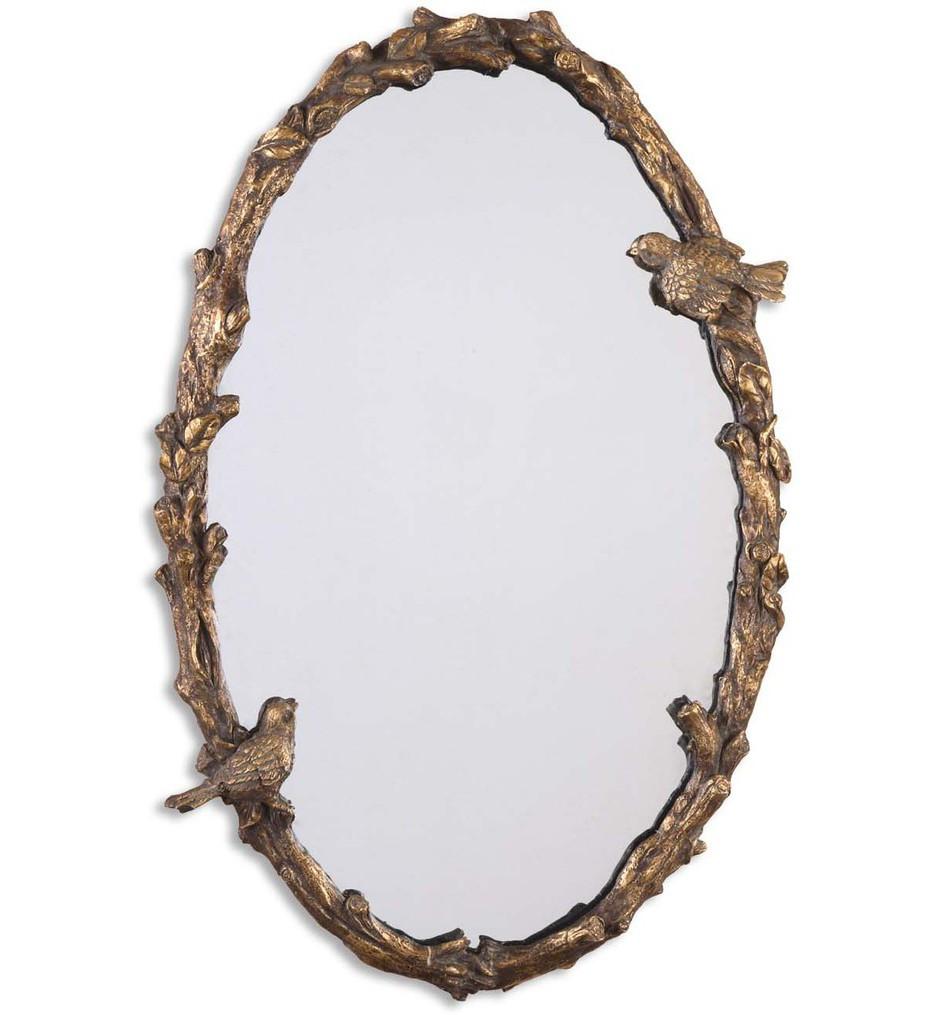 Uttermost - 13575 P - Paza Oval Vine Gold Mirror