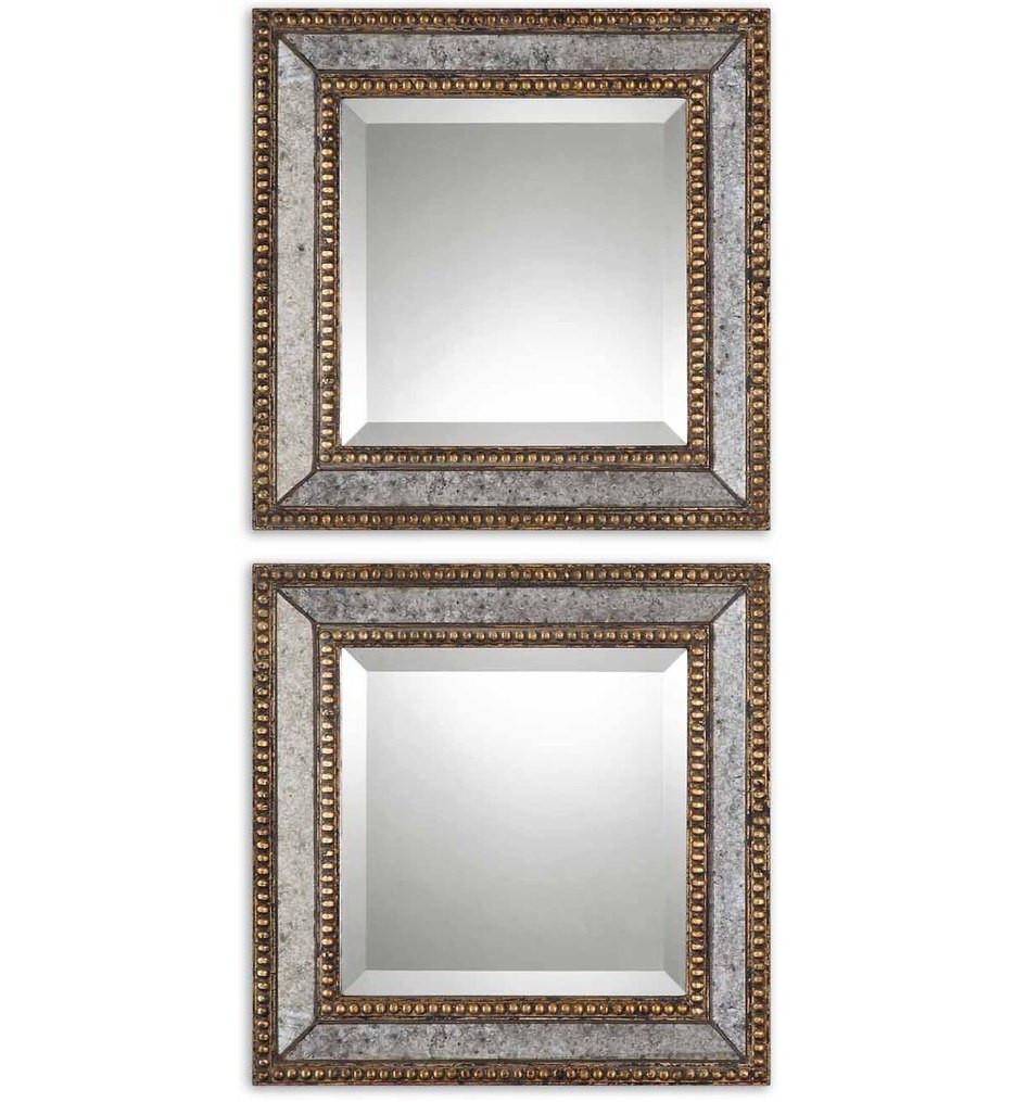 Uttermost - 13790 - Norlina Squares Antique Mirrors (Set of 2)