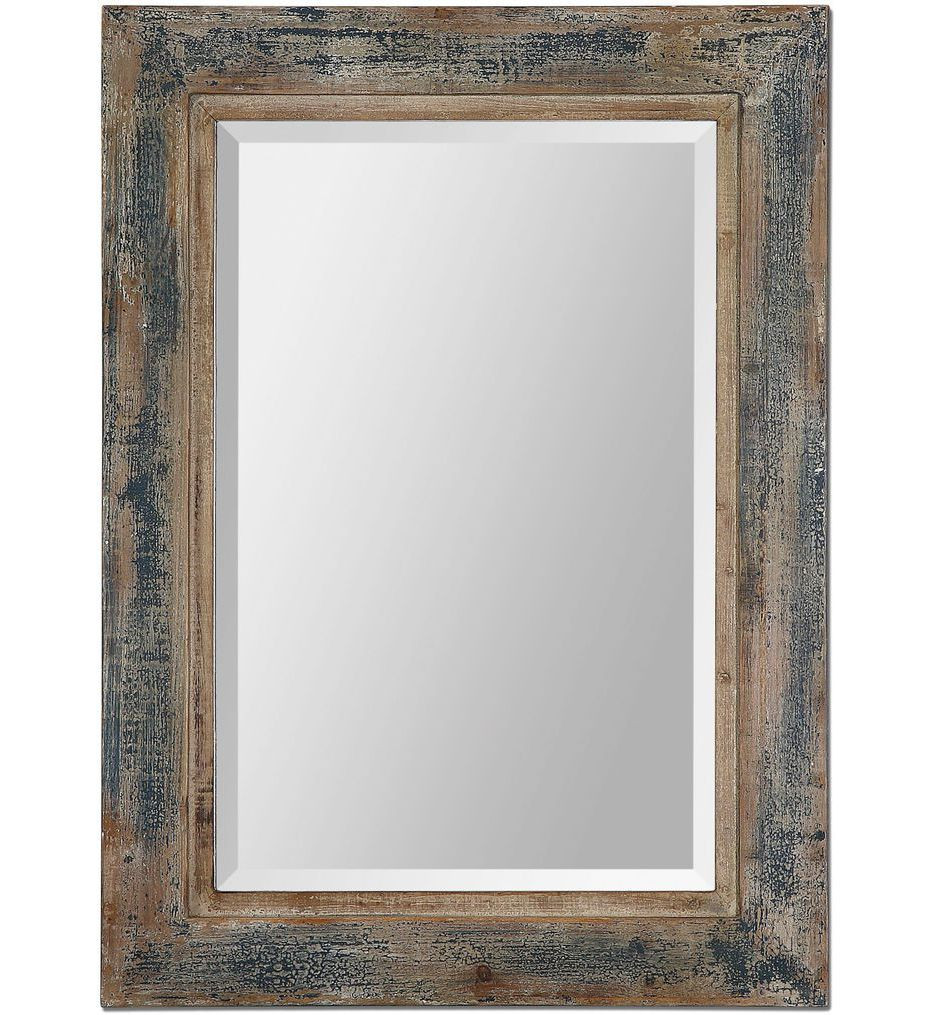 Uttermost - 13829 - Bozeman Distressed Blue Mirror