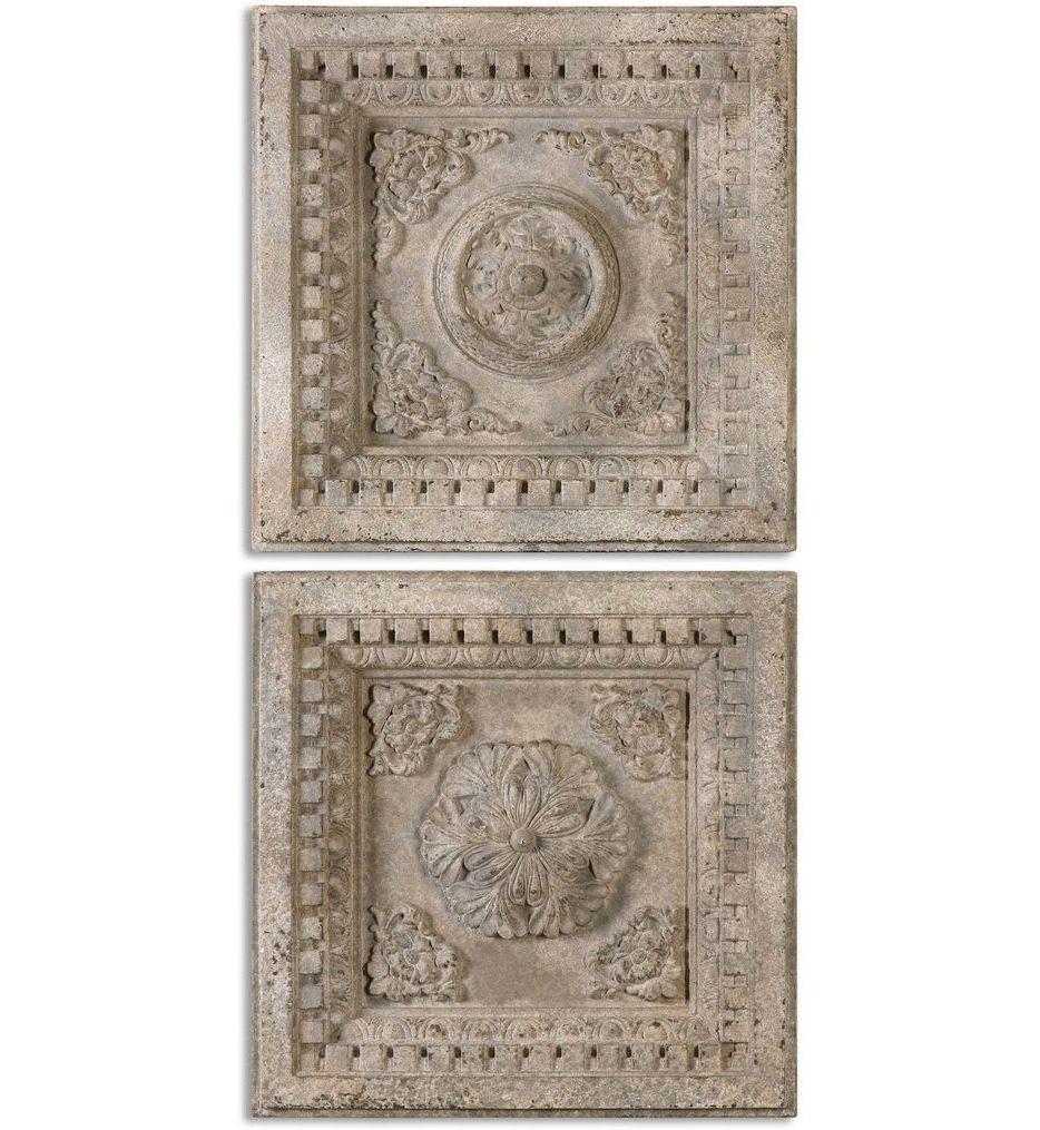 Uttermost - 13910 - Auronzo Aged Ivory Squares (Set of 2)