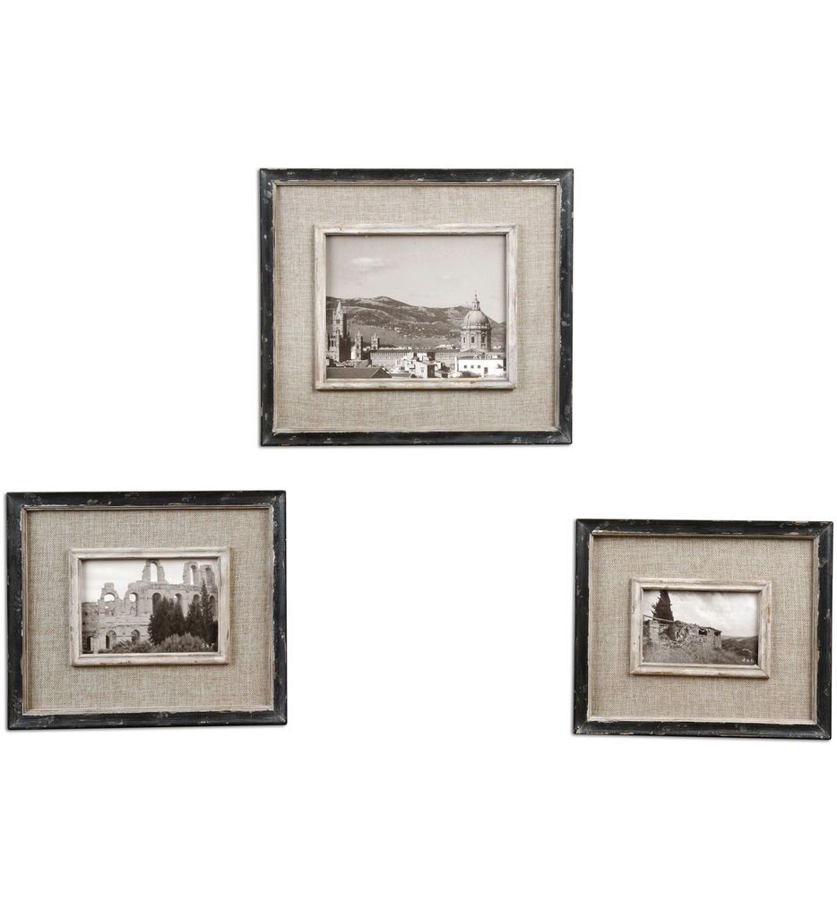 Uttermost - 18537 - Kalidas Cloth Lined Photo Frames (Set of 3)