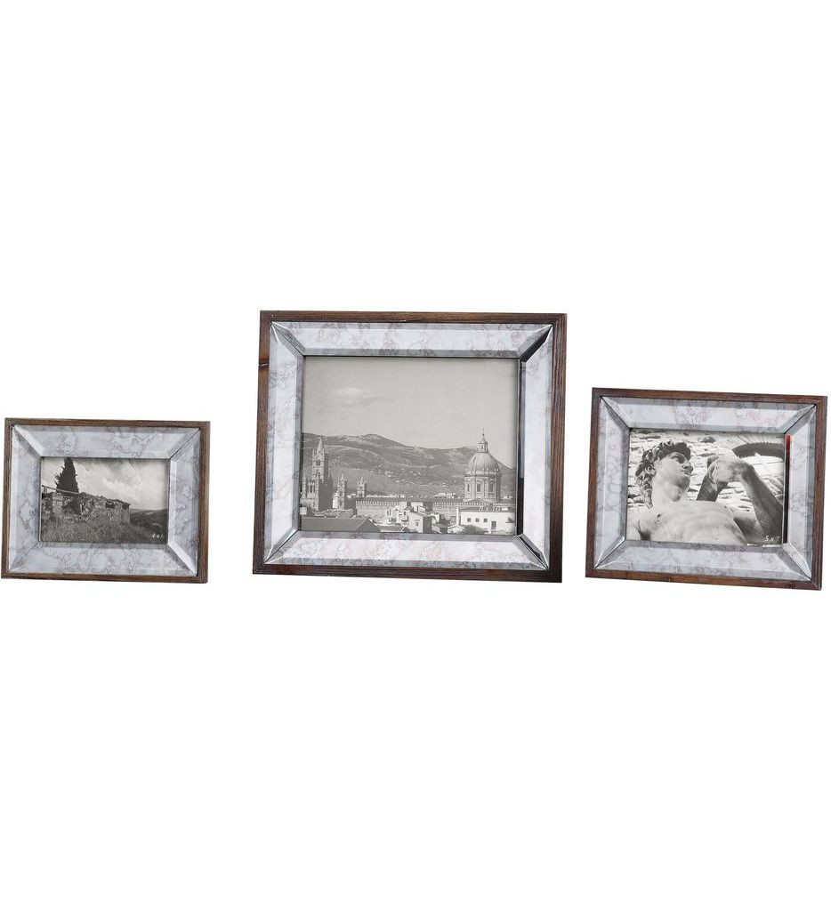 Uttermost - 18567 - Daria Antique Mirror Photo Frames (Set of 3)