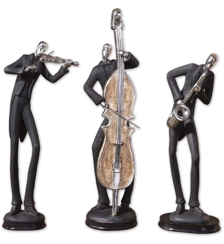 Uttermost - 19061 - Musicians Decorative Figurines (Set of 3)