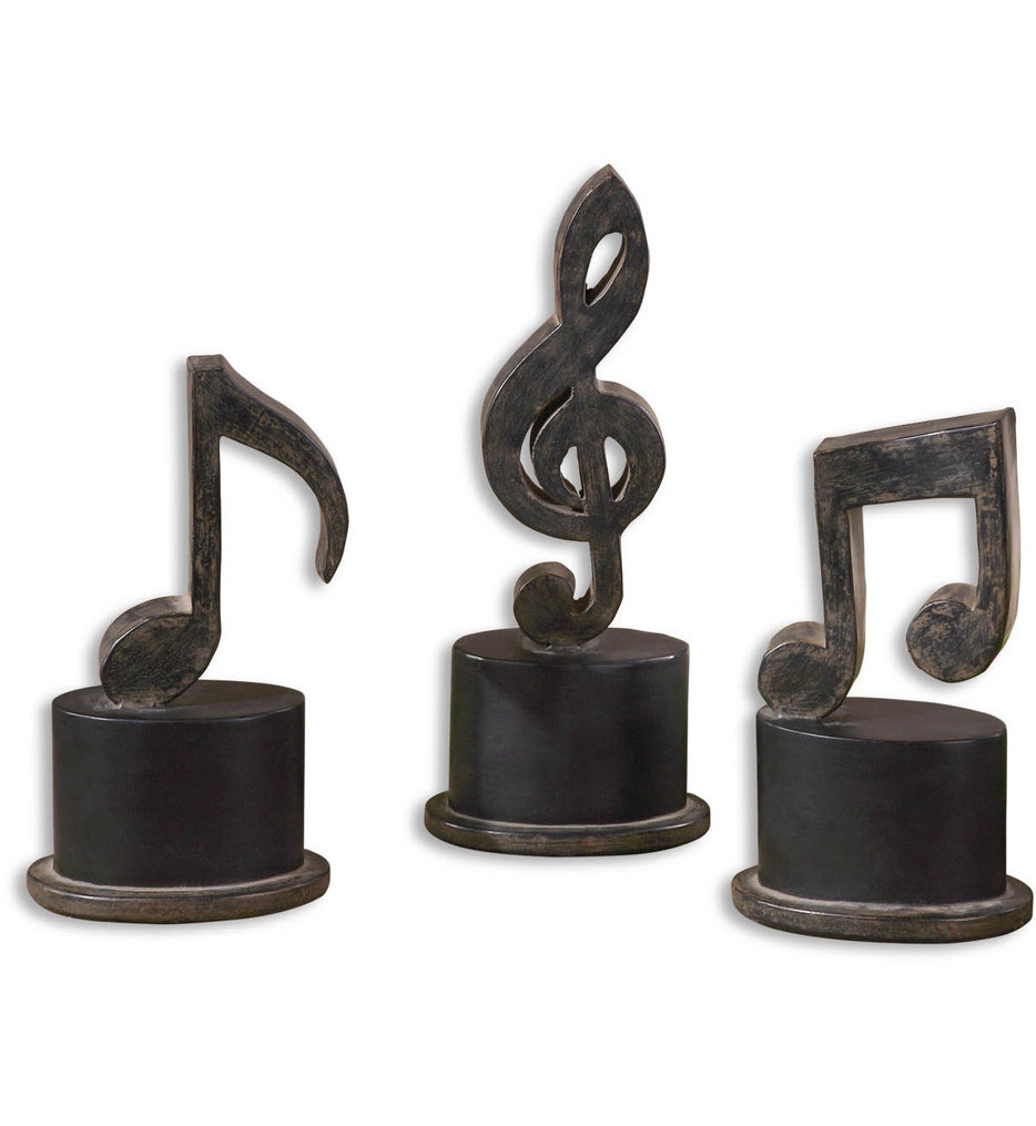 Uttermost - 19280 - Music Notes Metal Figurines (Set of 3)