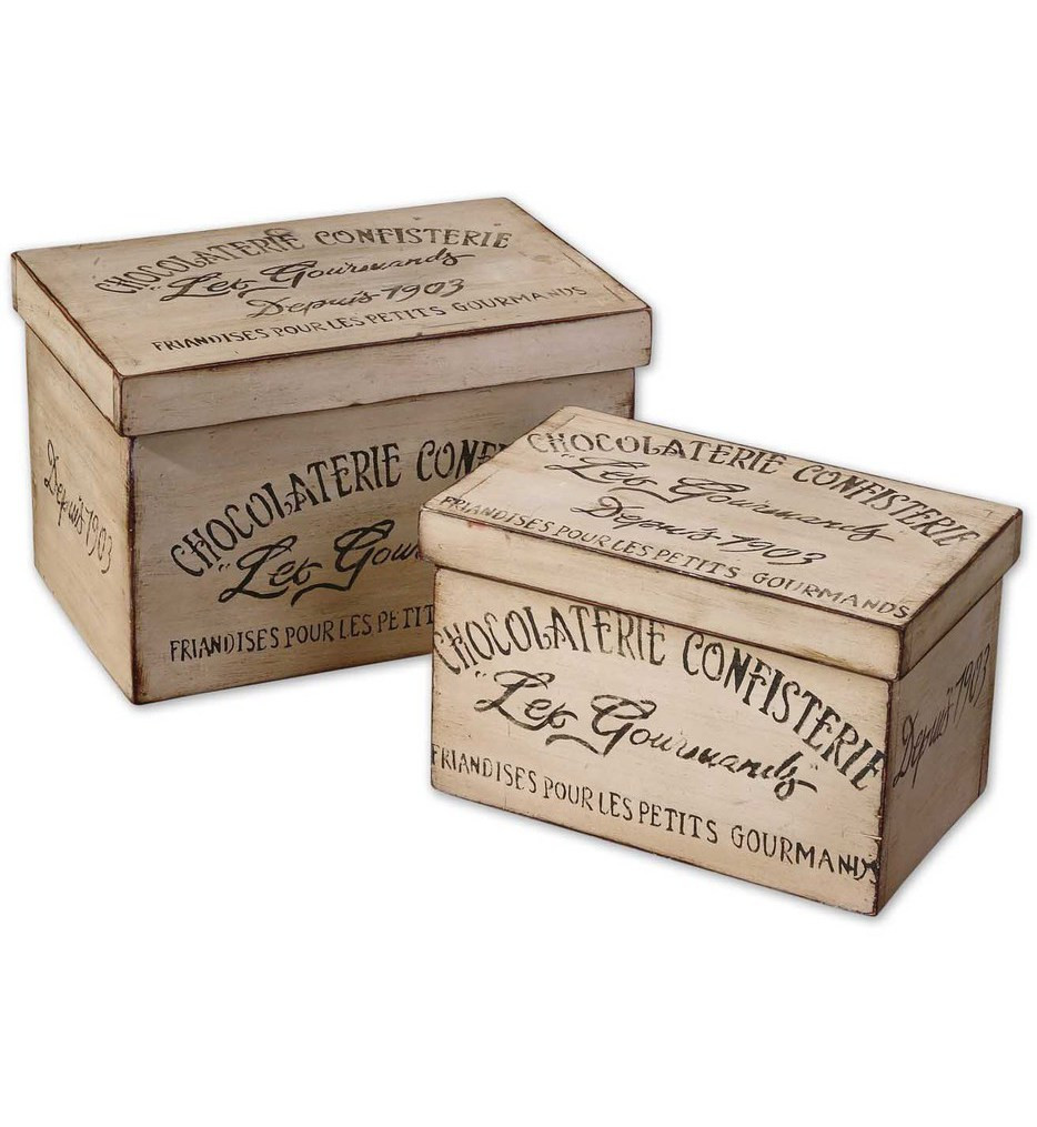 Uttermost - 19300 - Chocolaterie Decorative Boxes (Set of 2)