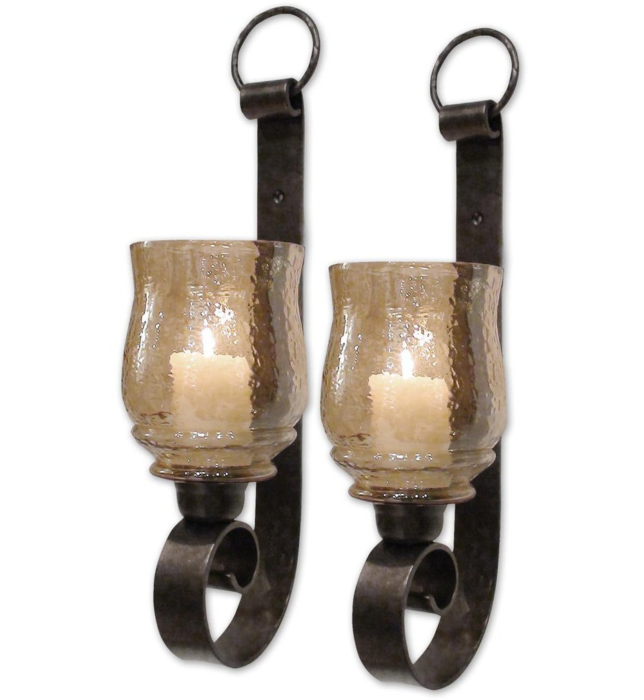 Uttermost - 19311 - Joselyn Small Candle Wall Sconce (Set of 2)