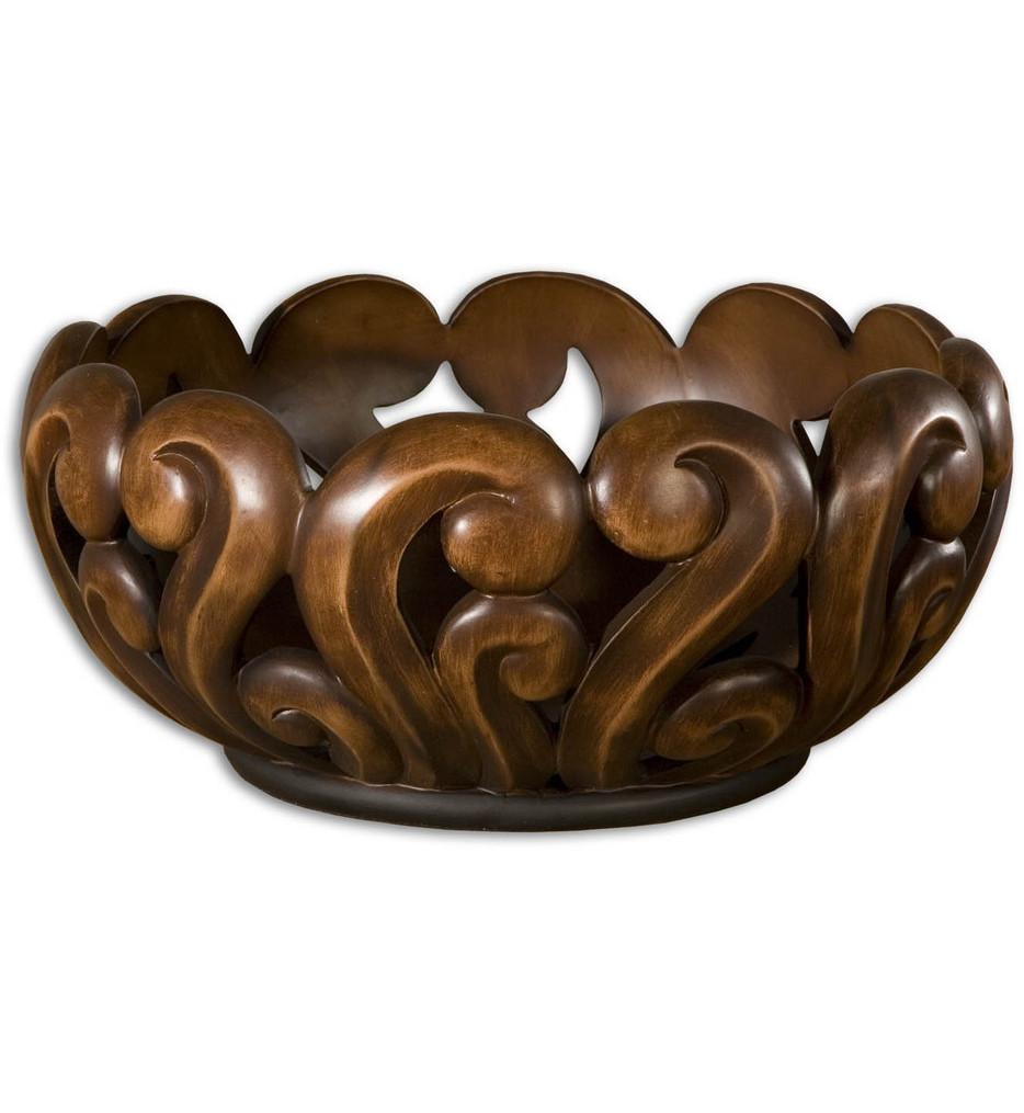 Uttermost - 19493 - Merida Wood Tone Decorative Bowl