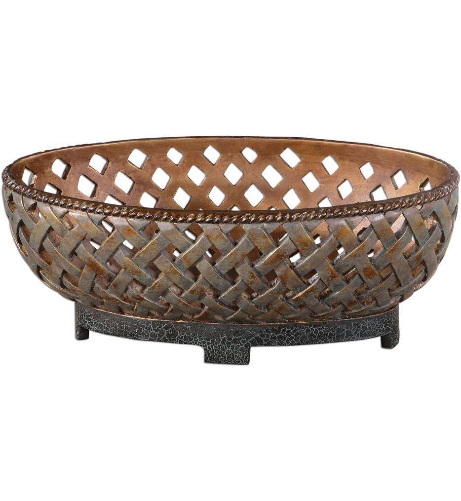 Uttermost - 19539 - Teneh Lattice Weave Design Bowl