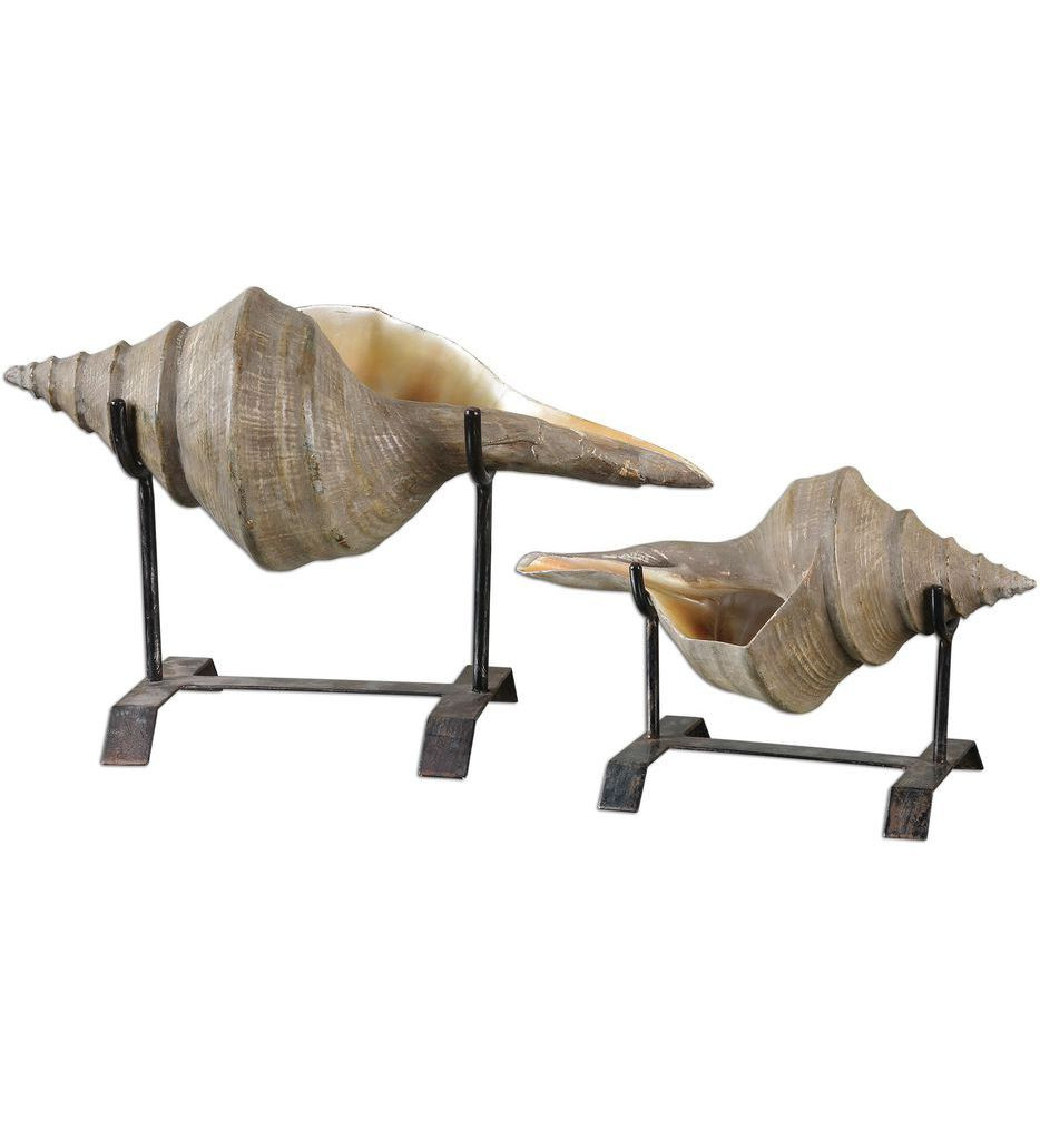 Uttermost - 19556 - Conch Shell Sculptures (Set of 2)