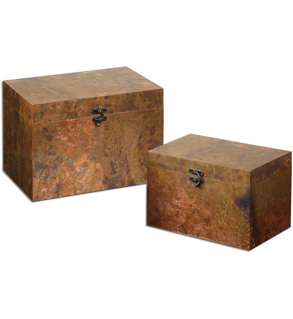 Uttermost - 19827 - Ambrosia Copper Boxes (Set of 2)