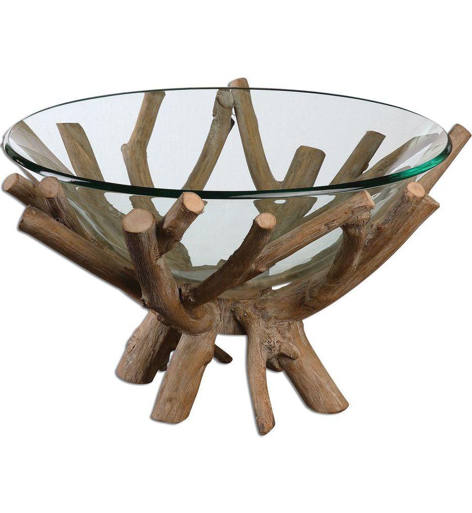 Uttermost - 19851 - Thoro Wood Bowl
