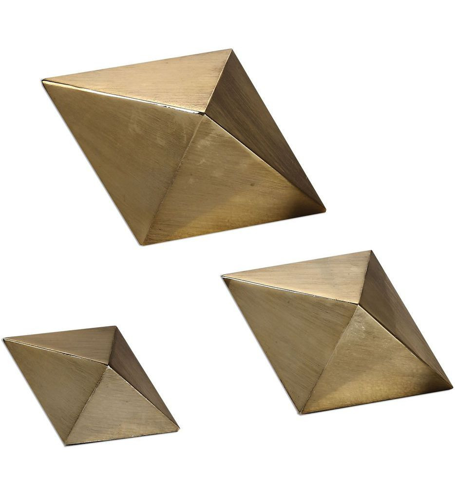 Uttermost - 20007 - Champagne Rhombus Accents (Set of 3)