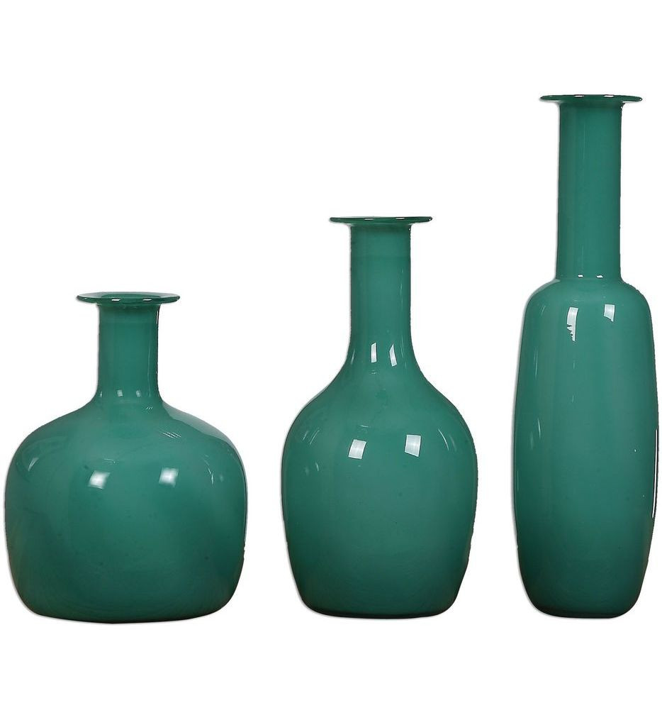 Uttermost - 20017 - Baram Turquoise Vases (Set of 3)