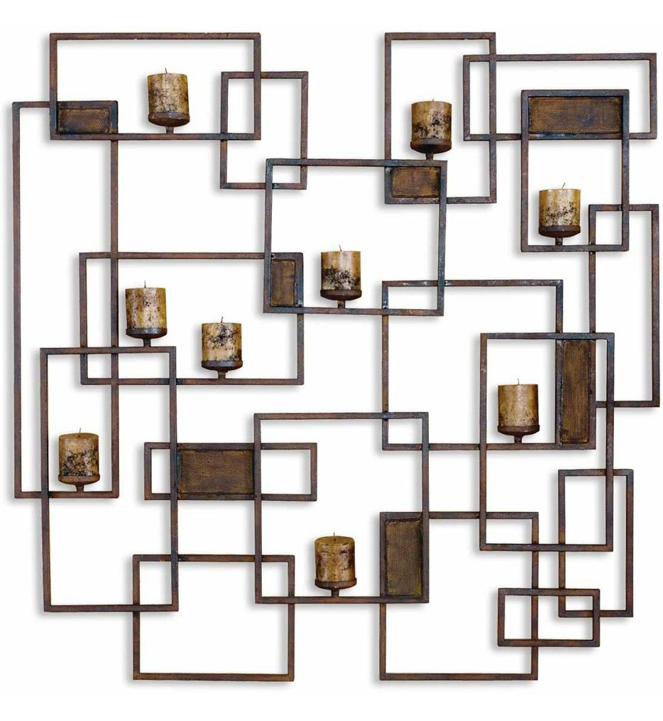 Uttermost - 20850 - Siam Metal Candlelight Wall Sculpture