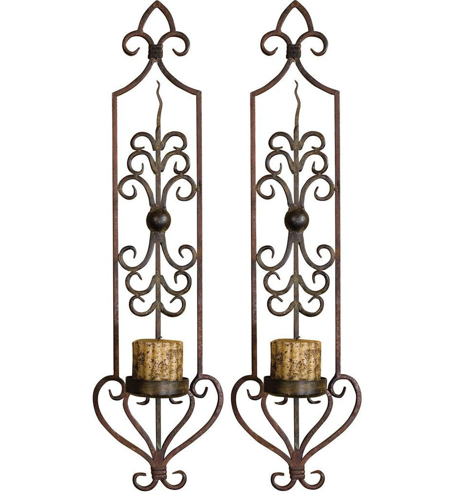 Uttermost - 20987 - Privas Metal Wall Sconces (Set of 2)