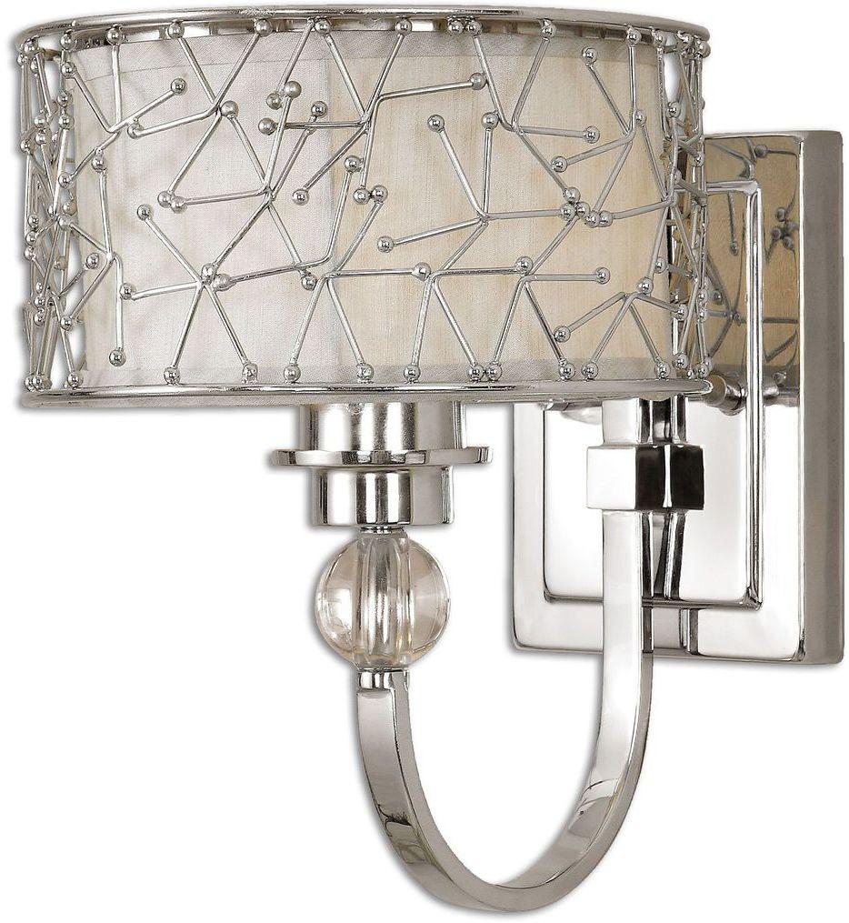 Uttermost - 22484 - Brandon 1 Light Nickel Wall Sconce