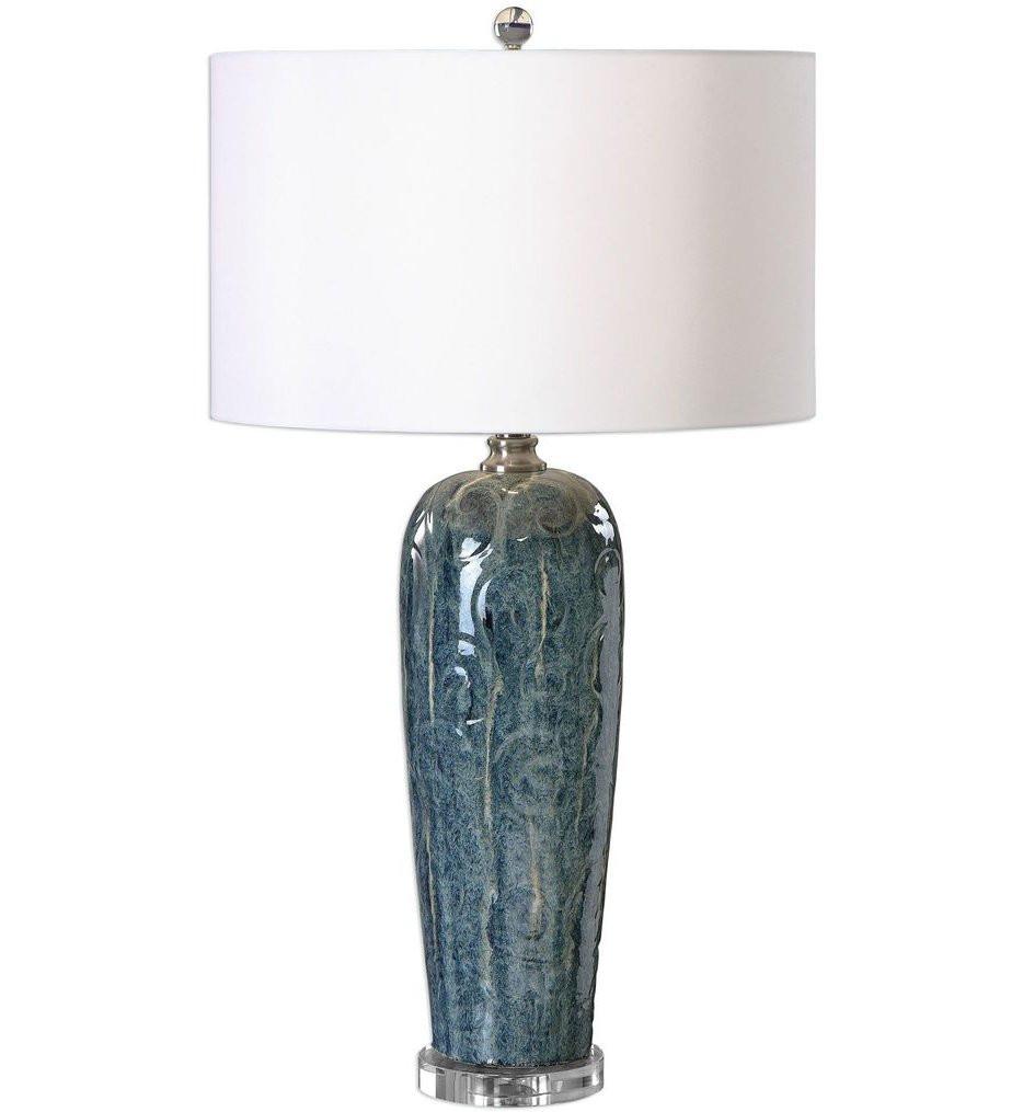 Uttermost - 27130-1 - Uttermost Maira Blue Ceramic Table Lamp