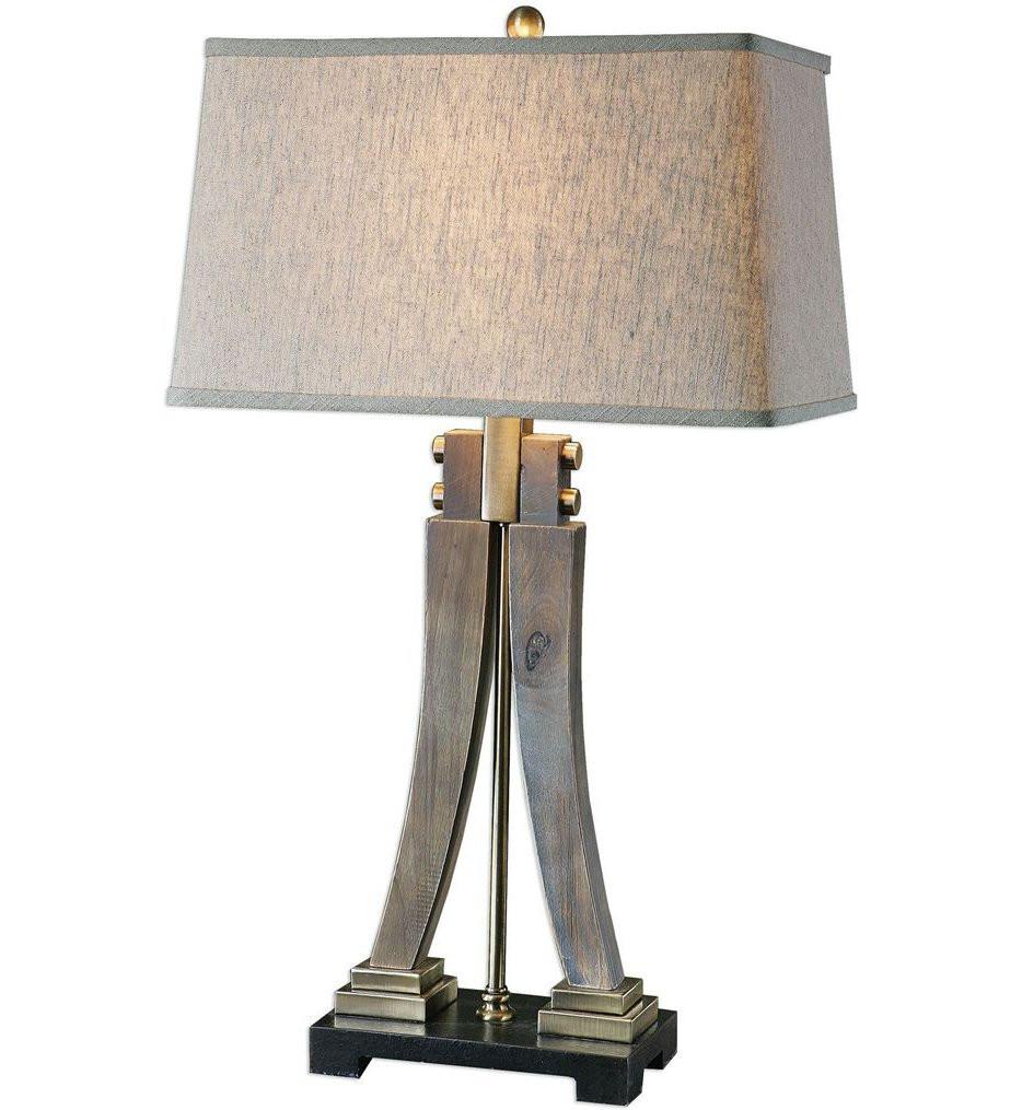 Uttermost - 27220 - Uttermost Yerevan Wood Leg Lamp