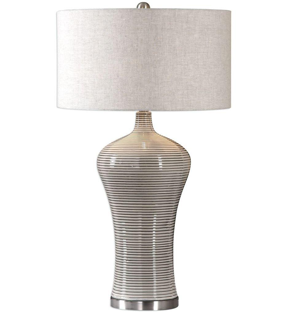 Uttermost - 27570-1 - Uttermost Dubrava Light Gray Table Lamp