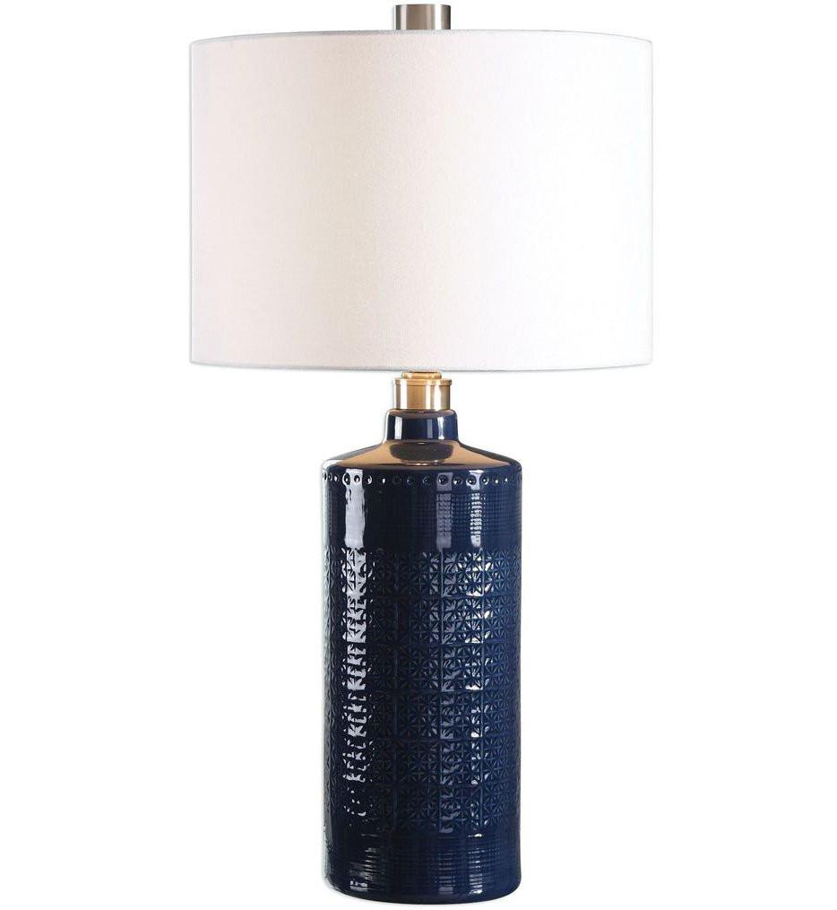 Uttermost - 27716-1 - Uttermost Thalia Royal Blue Table Lamp