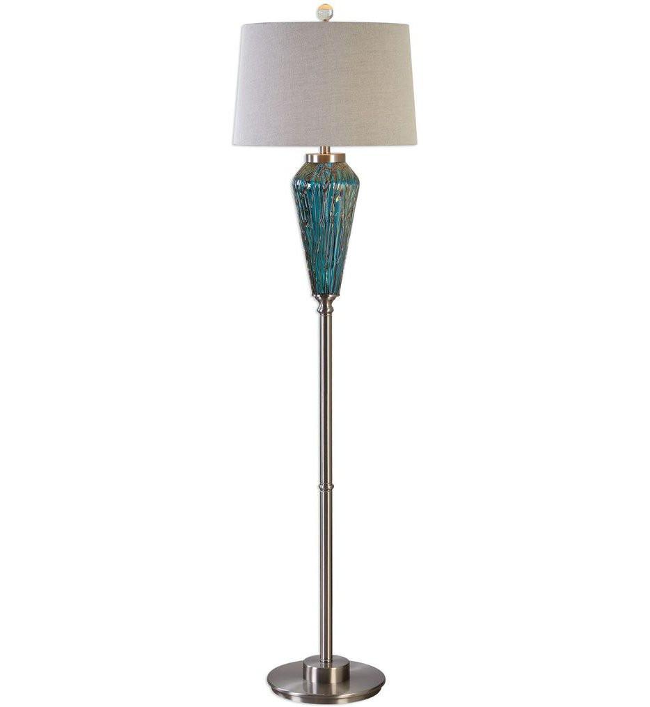 Uttermost - 28101 - Uttermost Almanzora Blue Glass Floor Lamp