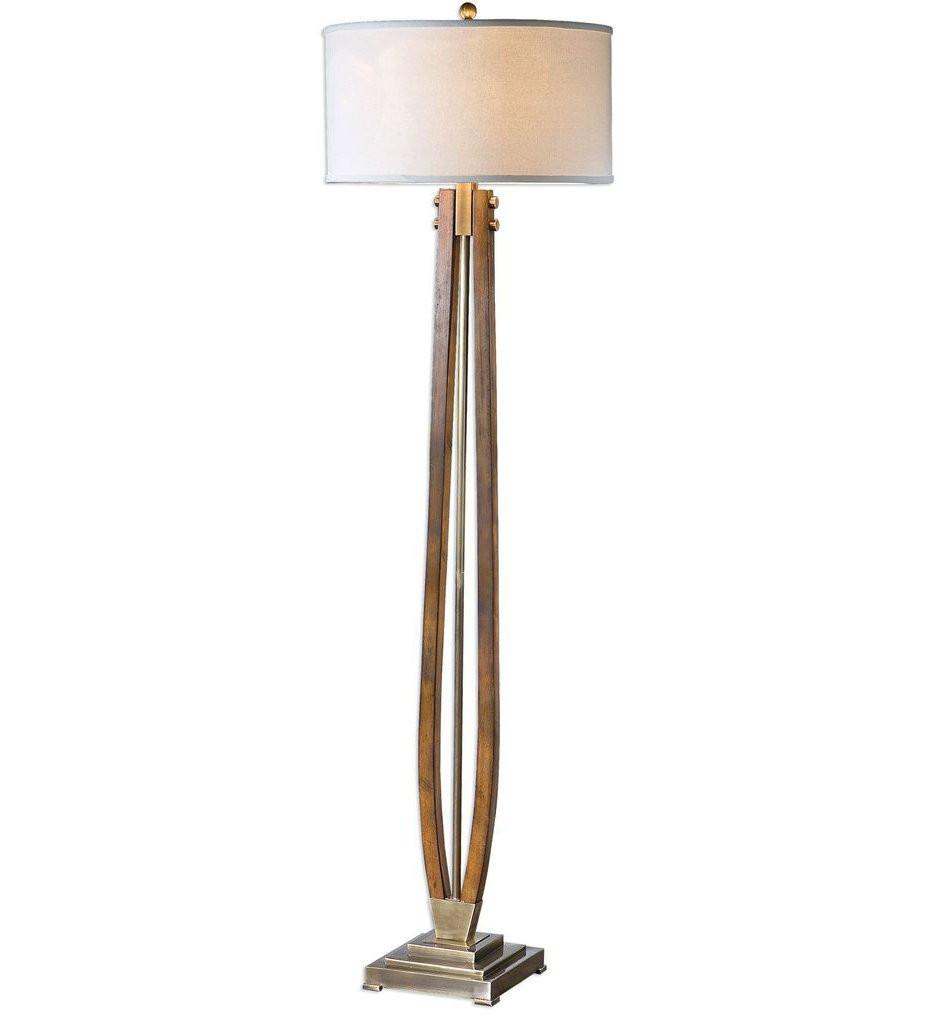 Uttermost - 28105 - Uttermost Boydton Burnished Wood Floor Lamp