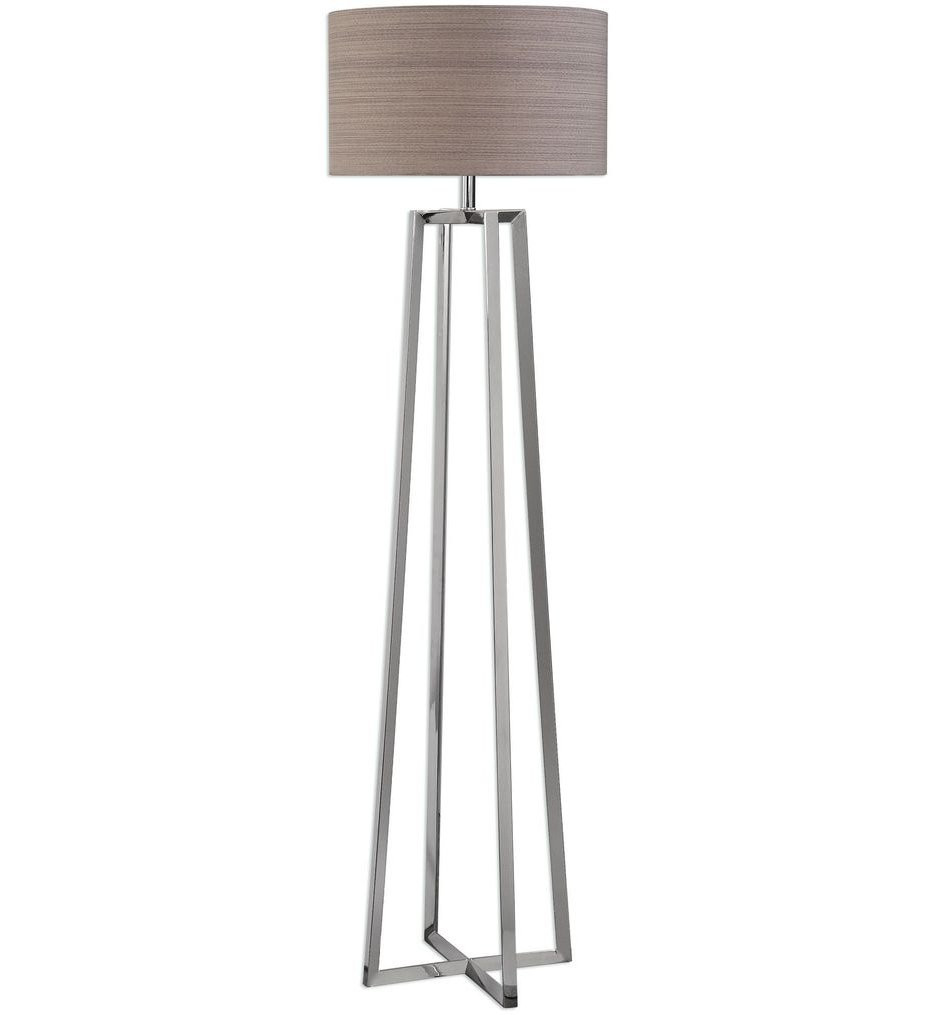 Uttermost - 28111 - Uttermost Keokee Polished Nickel Floor Lamp