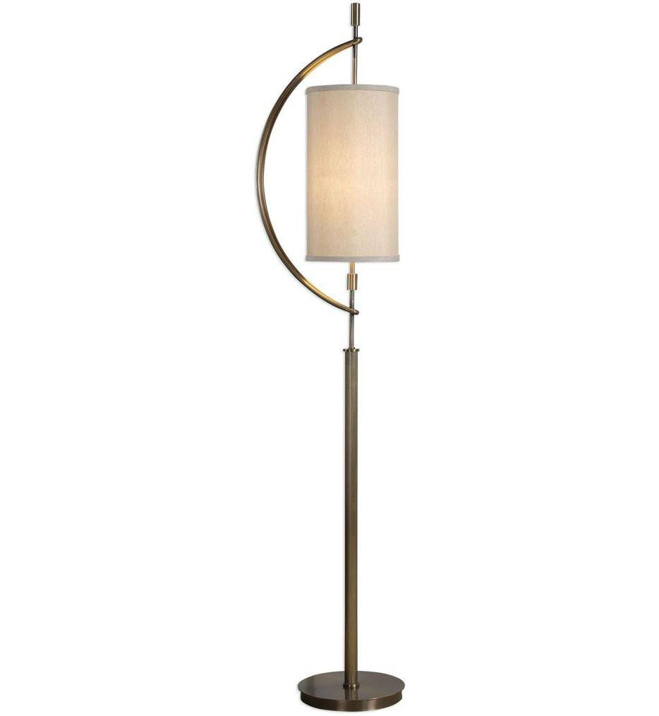 Uttermost - 28151-1 - Uttermost Balaour Antique Brass Floor Lamp