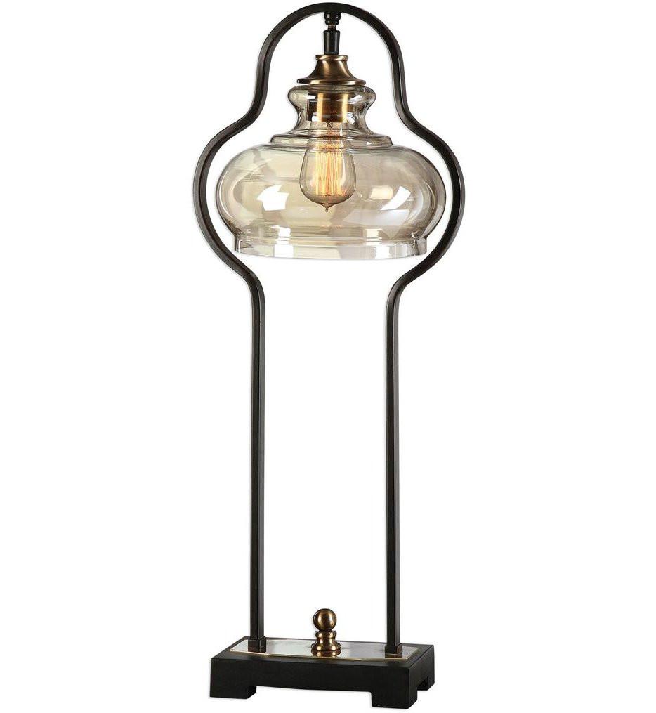 Uttermost - 29259-1 - Uttermost Cotulla Aged Black Desk Lamp