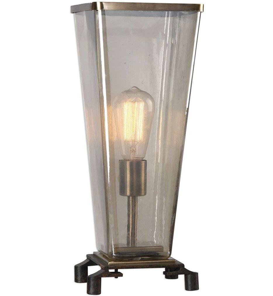 Uttermost - 29356-1 - Uttermost Emidio Glass Hurricane Lamp