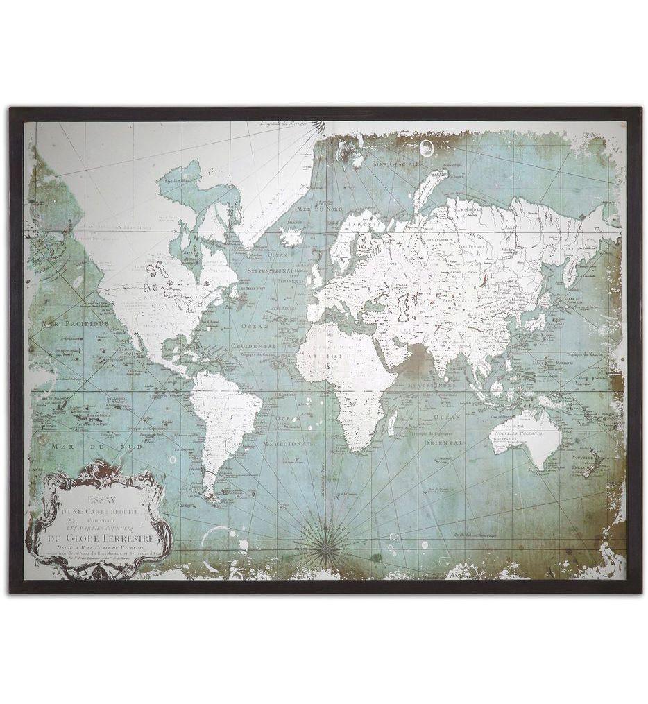 Uttermost - 30400 - Mirrored World Map
