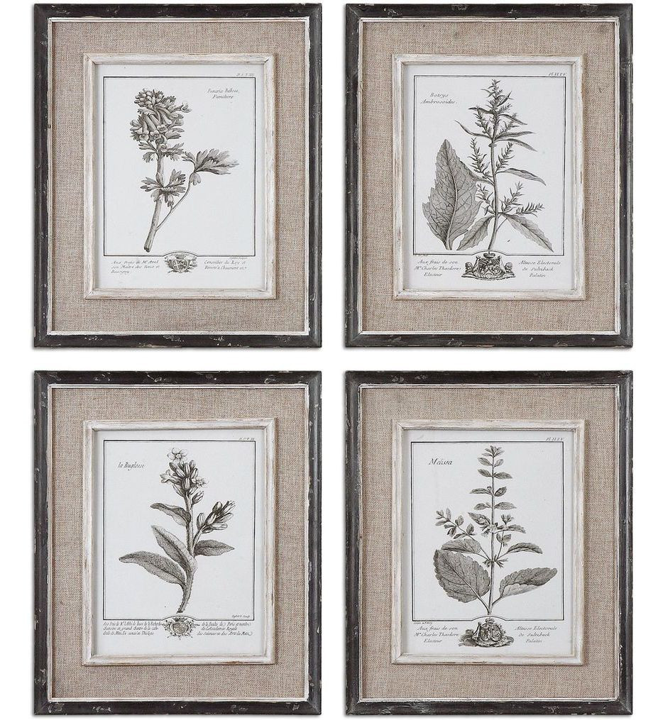 Uttermost - 32510 - Casual Grey Study Framed Art (Set of 4)